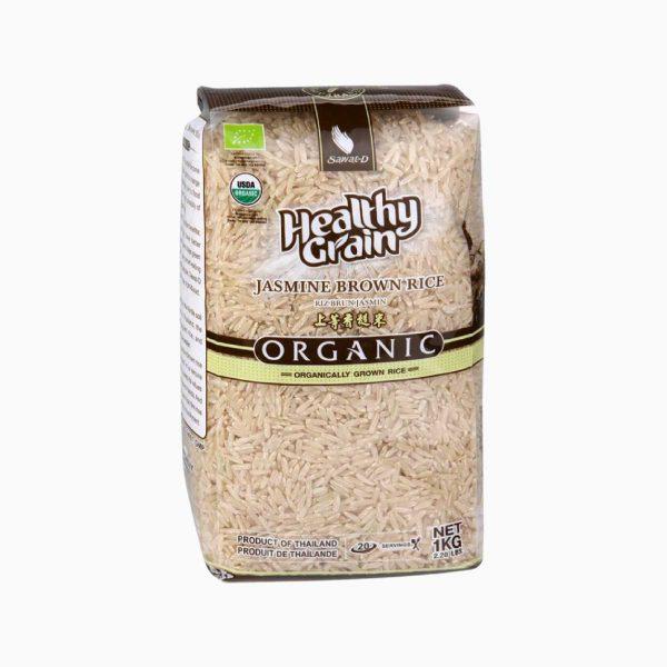 Рис органический коричневый Жасмин, Sawat-D, 1 кг