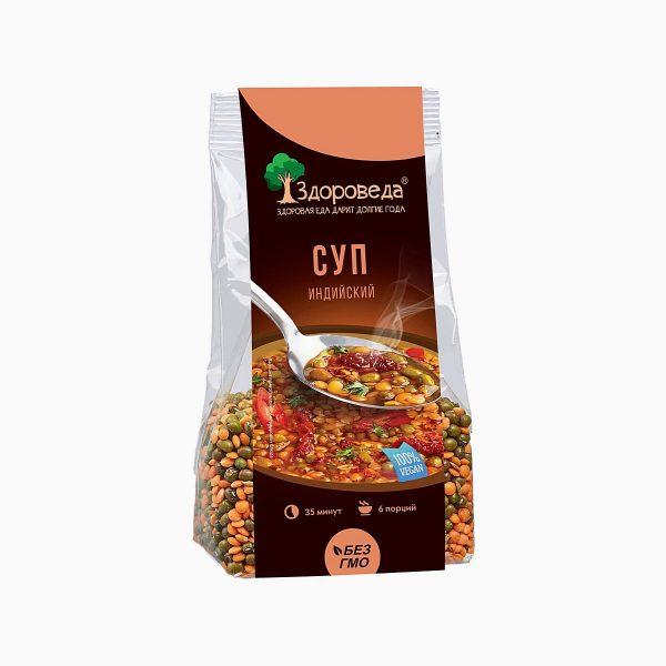 Суп Индийский с машем и чечевицей, Здороведа, 250 гр