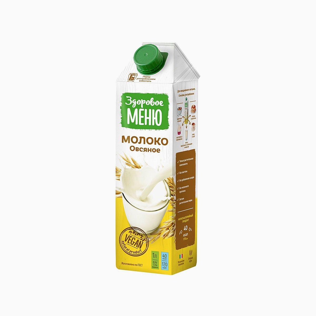 Молоко овсяное, Здоровое меню, 1 л