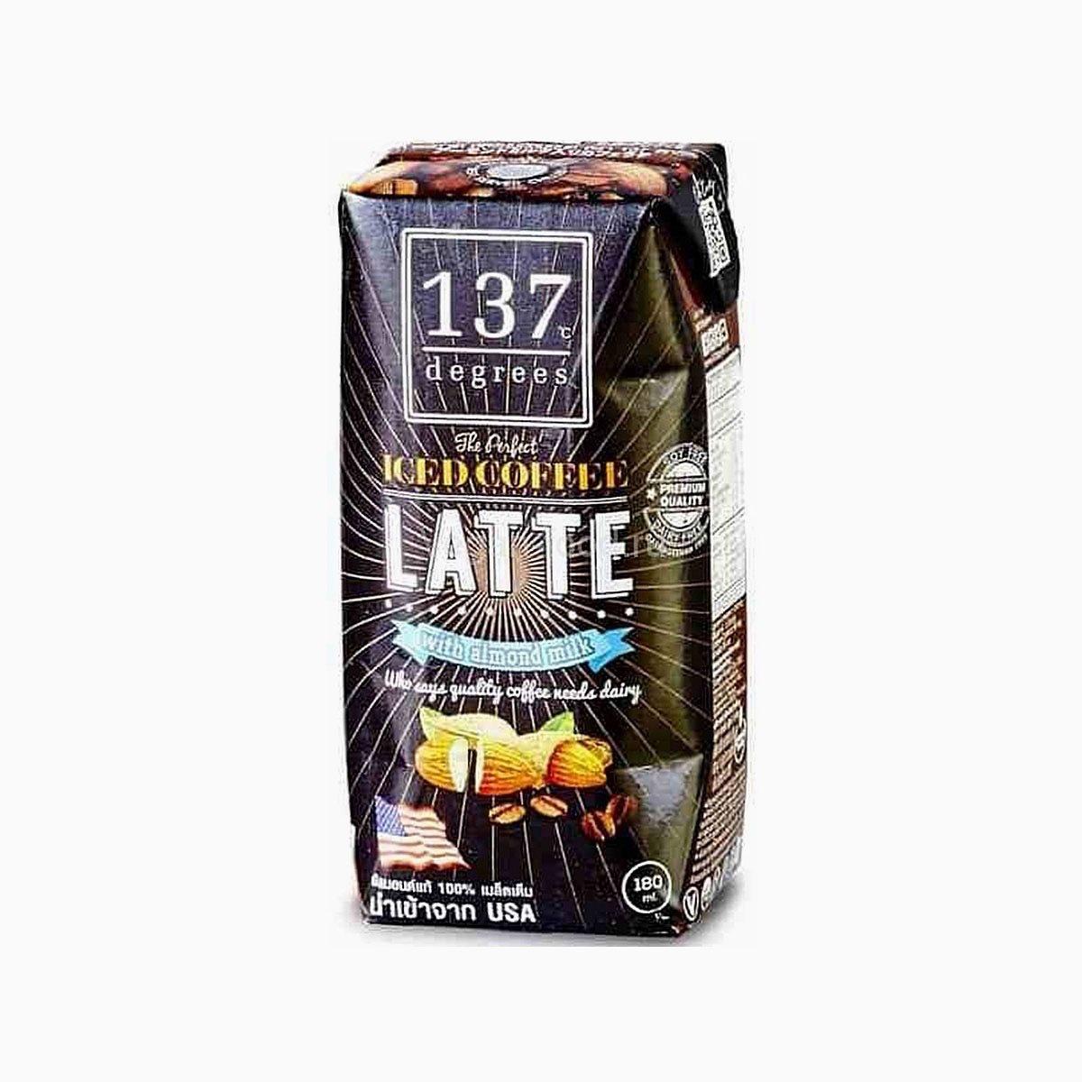 Кофе латте на миндальном молоке, 137 Degrees, 180 мл