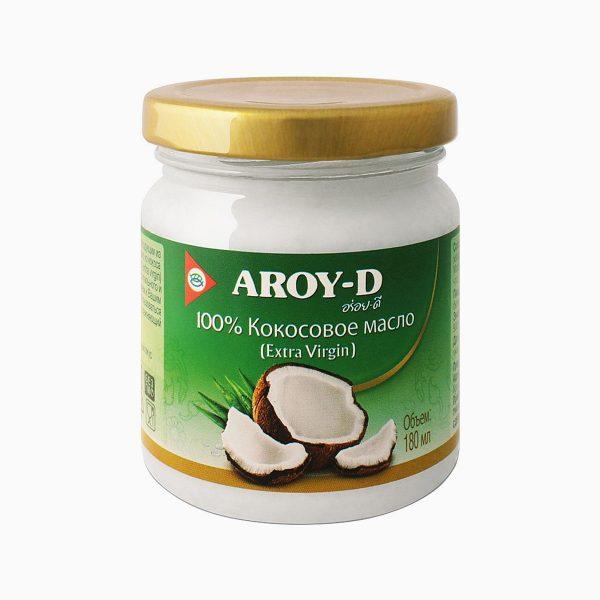 Масло кокосовое, Aroy-d, 180 мл