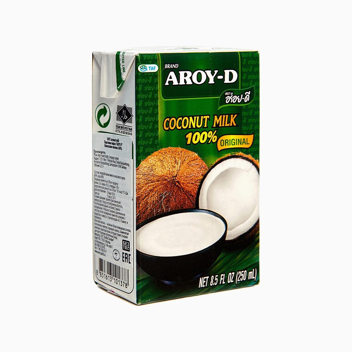Кокосовое молоко 60%, Aroy-d, 250 мл