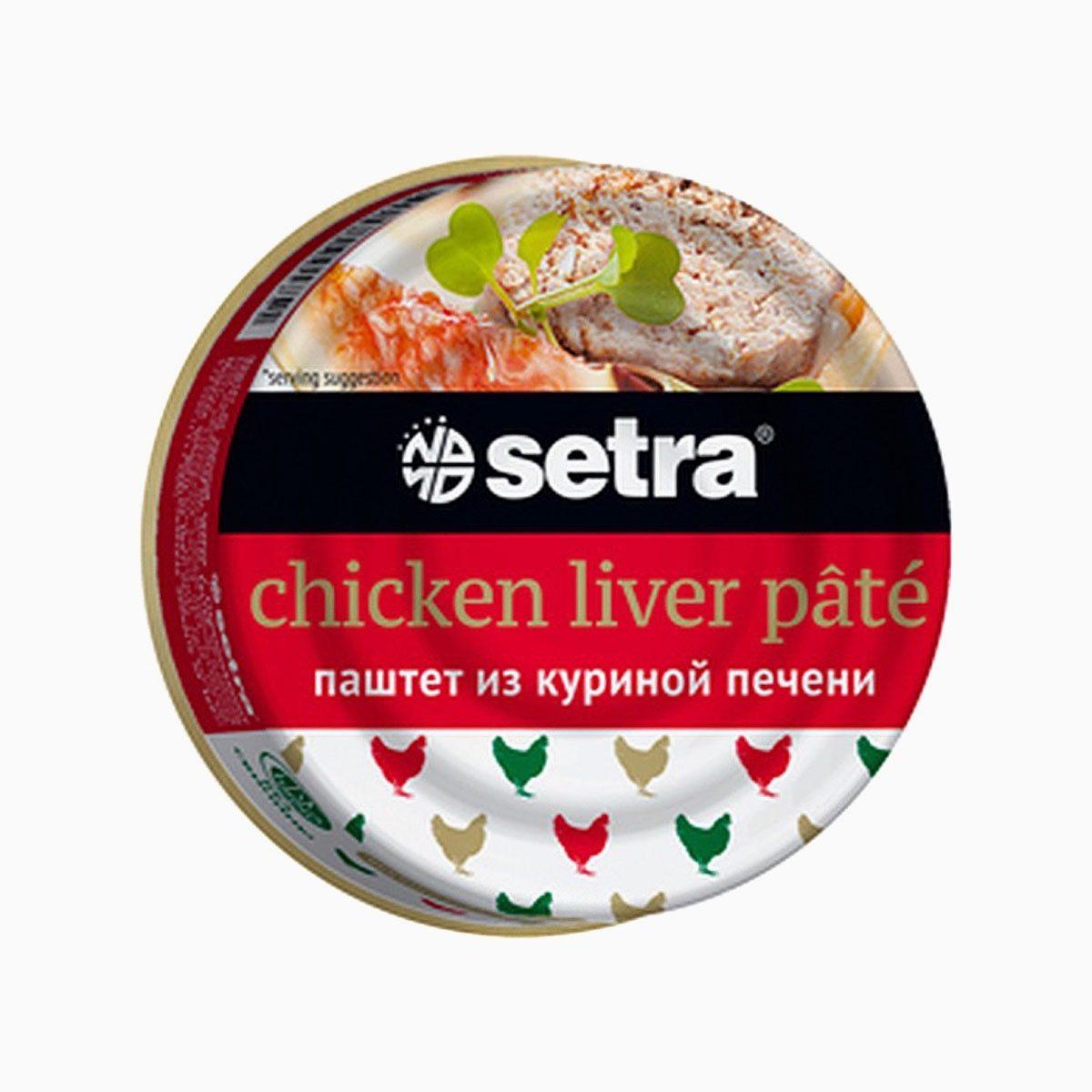 Паштет из куриной печени, Setra, 100 гр