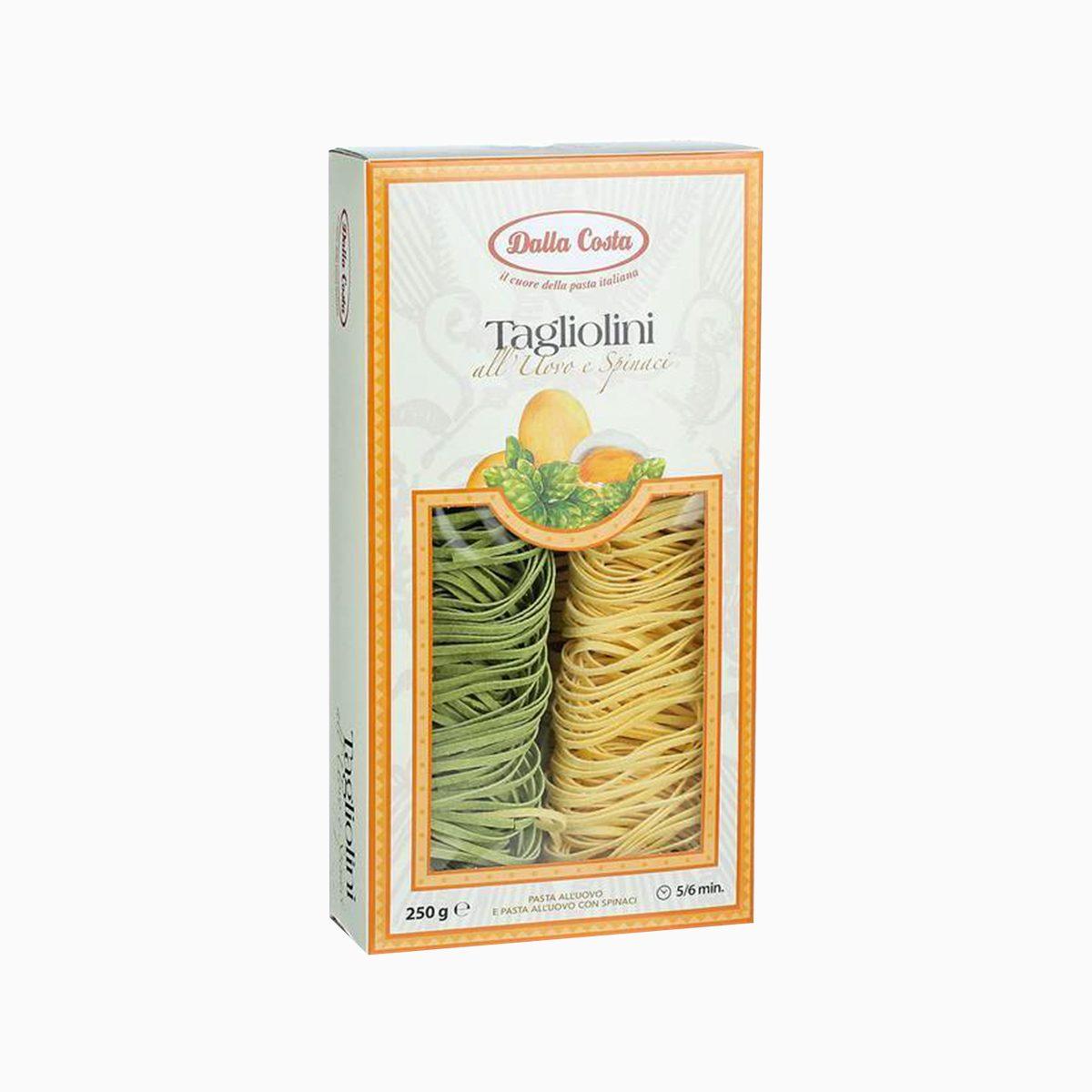Макароны Тальолини с яйцом и шпинатом, Dalla Costa, 250 гр
