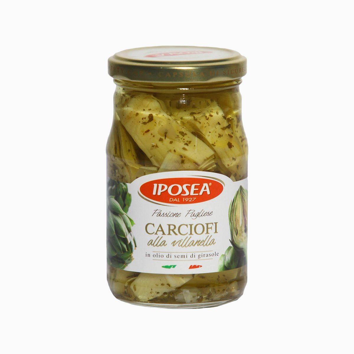 Артишоки резаные в масле, Iposea, 290 гр