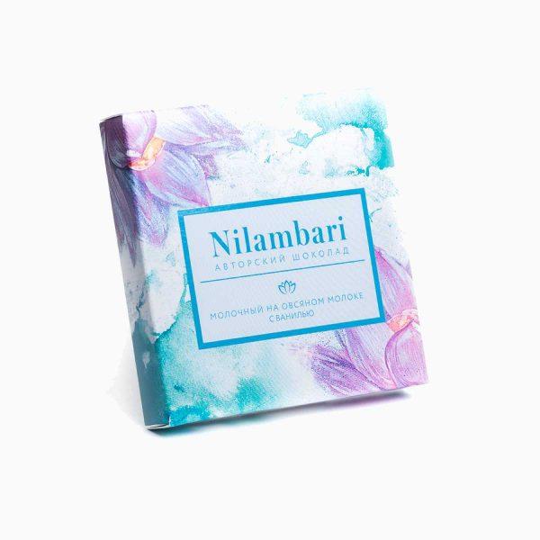 Шоколад молочный на овсяном молоке с ванилью, Nilambari, 65 г