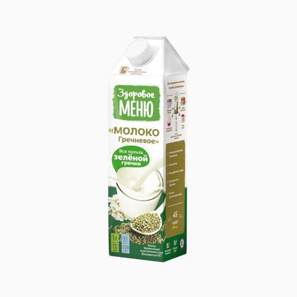 Молоко гречневое, Здоровое меню, 1 л