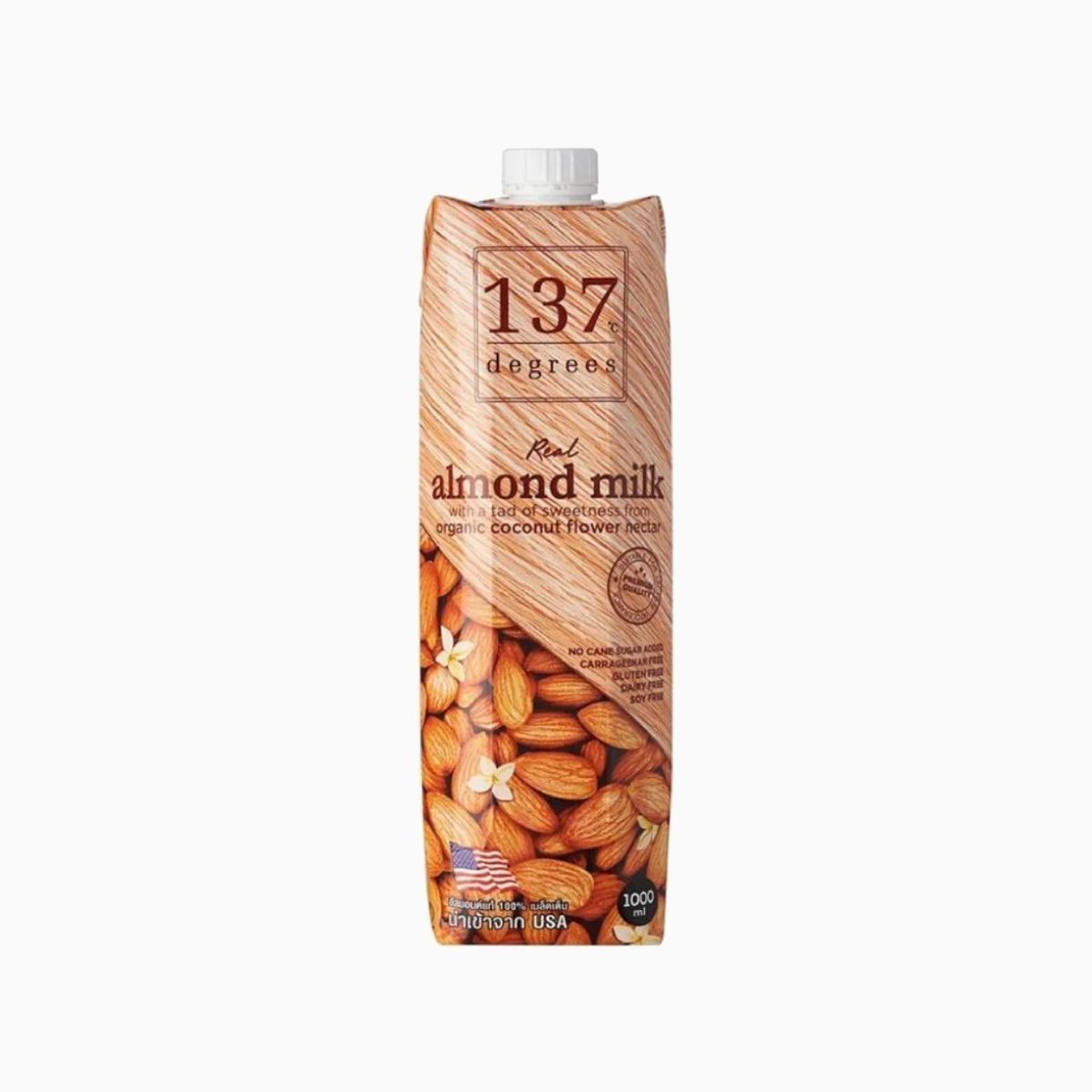 Молоко миндальное с нектаром кокосовых соцветий, 137 Degrees, 1 л