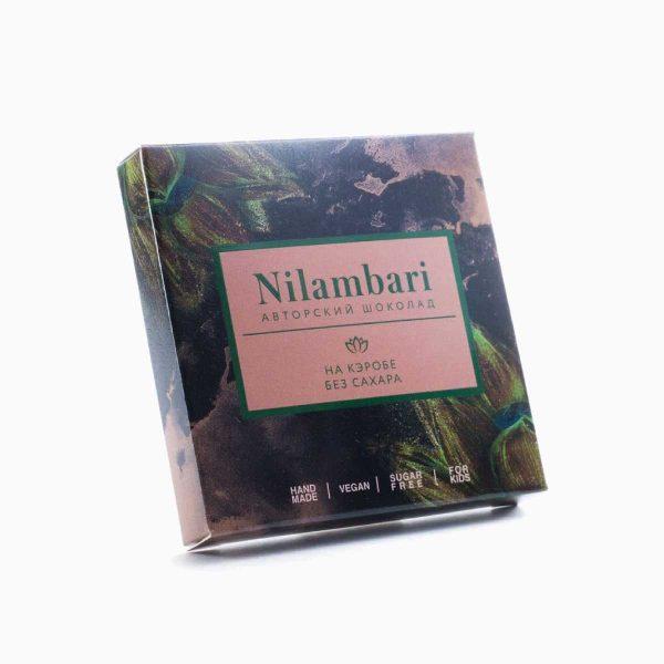Шоколад на кэробе без сахара, Nilambari, 65 г