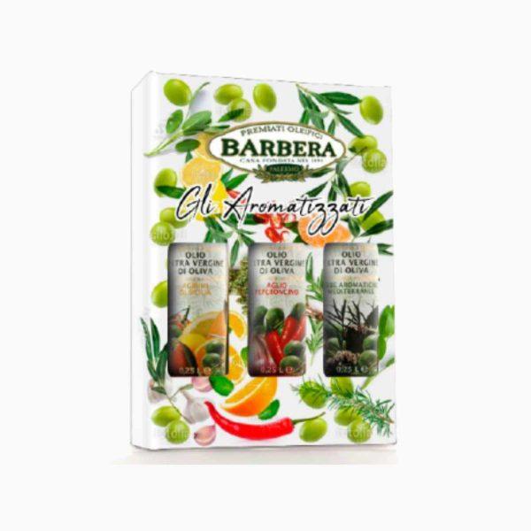 Набор оливковых масел масел с добавками, Barbera, 3х250 мл
