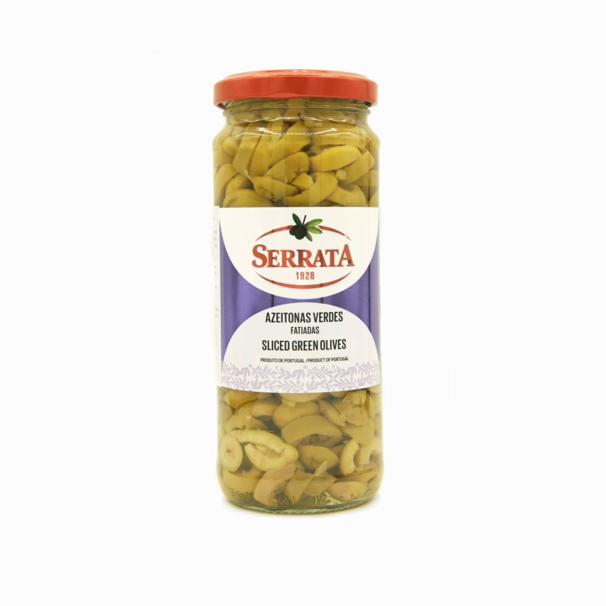 Оливки зелёные резаные, Serrata, 320 г