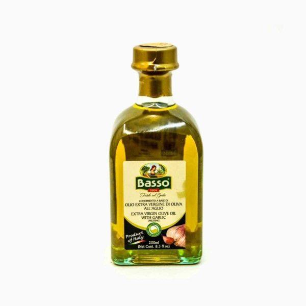 Масло оливковое с чесноком, Basso, 250 мл