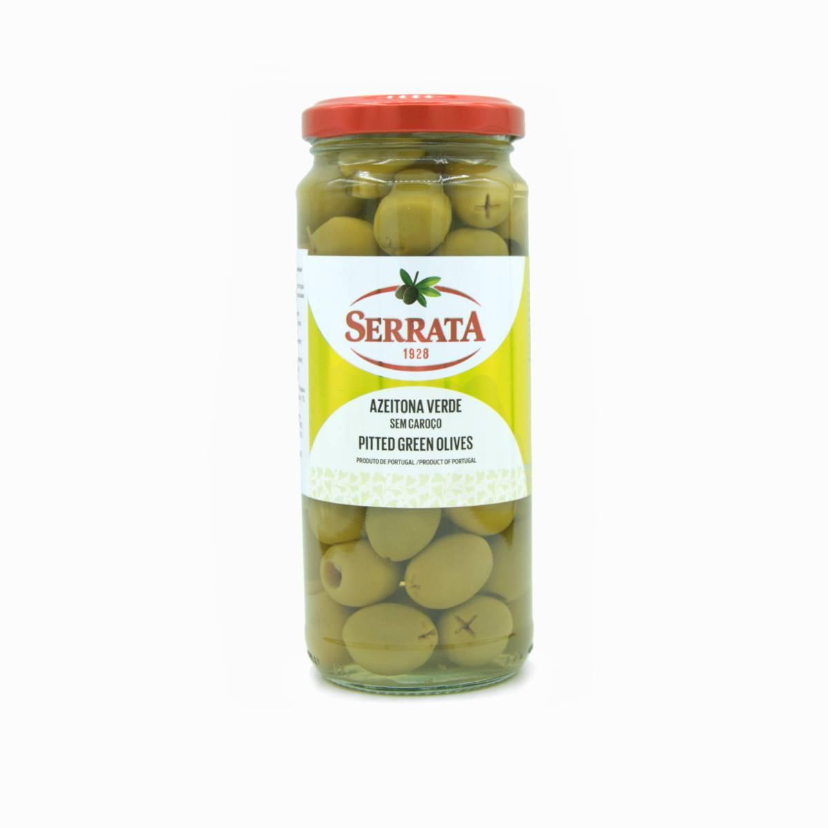 Оливки зелёные без косточки, Serrata, 340 г