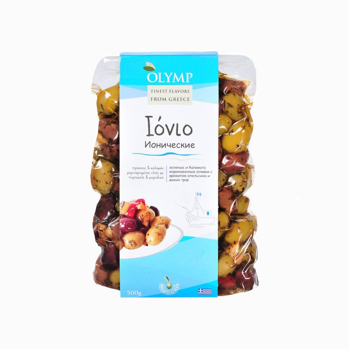Оливки Ионические с ароматом апельсина и диких трав, Olymp