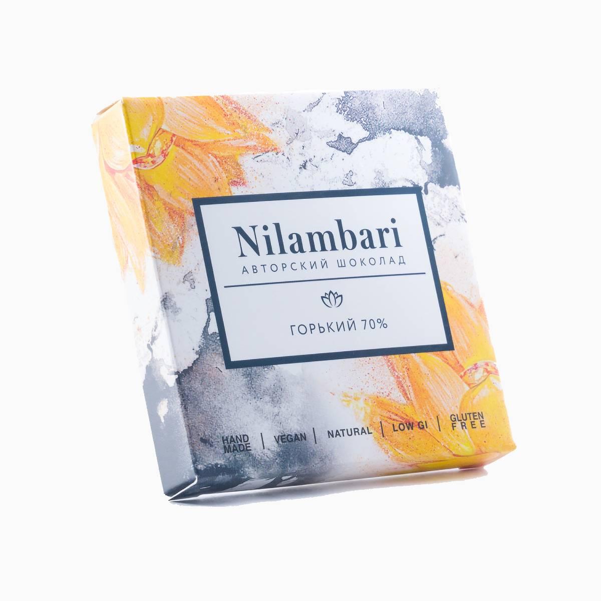 Шоколад горький 70%, Nilambari, 65 г