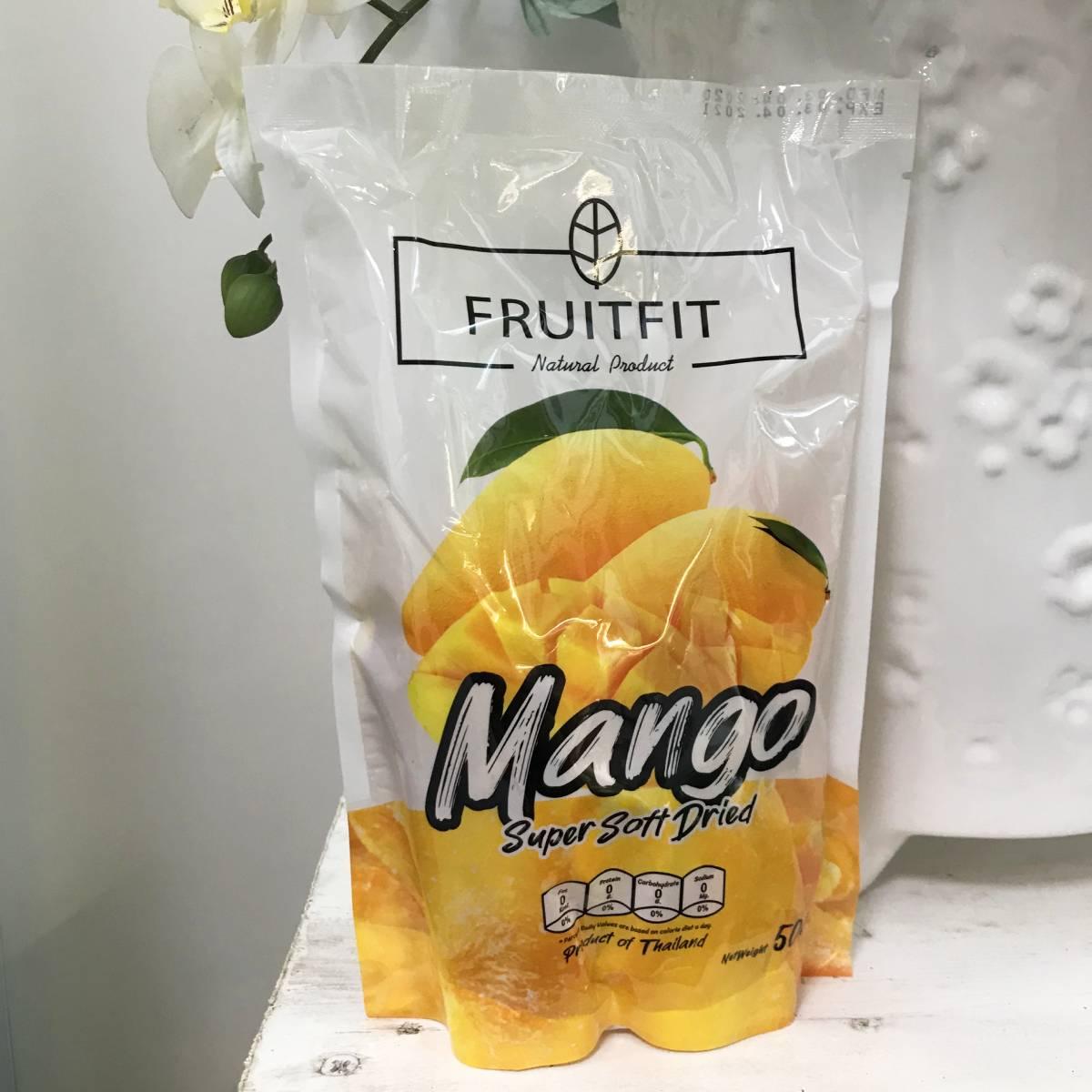 Манго сушеное, Fruitfit, 500 г Тайланд