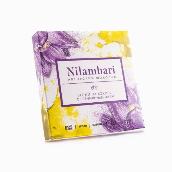 Шоколад белый на кокосе с гречишным чаем, Nilambari