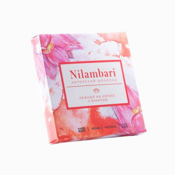 Шоколад на кэробе нежный с ванилью, Nilambari, 65 г