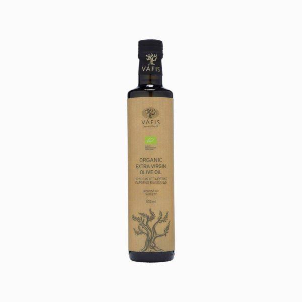 Масло оливковое органическое, Extra Virgin, Vafis, 500 мл