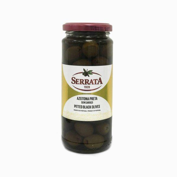 Оливки чёрные без косточки, Serrata, 330 г