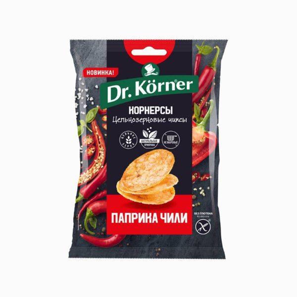 Чипсы Корнерсы кукурузно-рисовые с паприкой и чили, Dr. Korner, 50 г