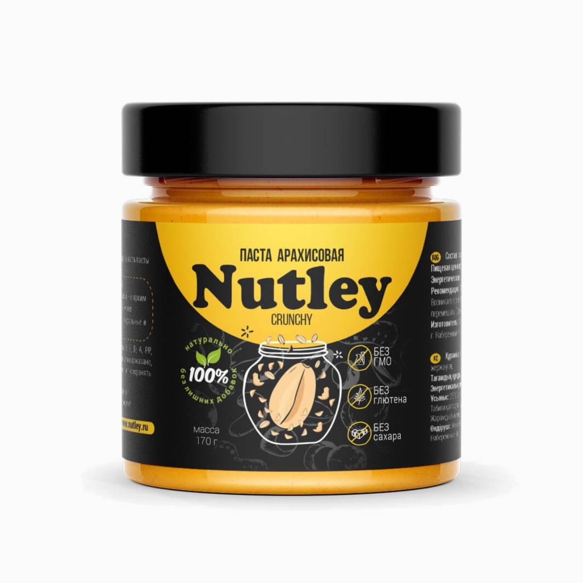 Паста Арахисовая классическая Crunchy, Nutley Black