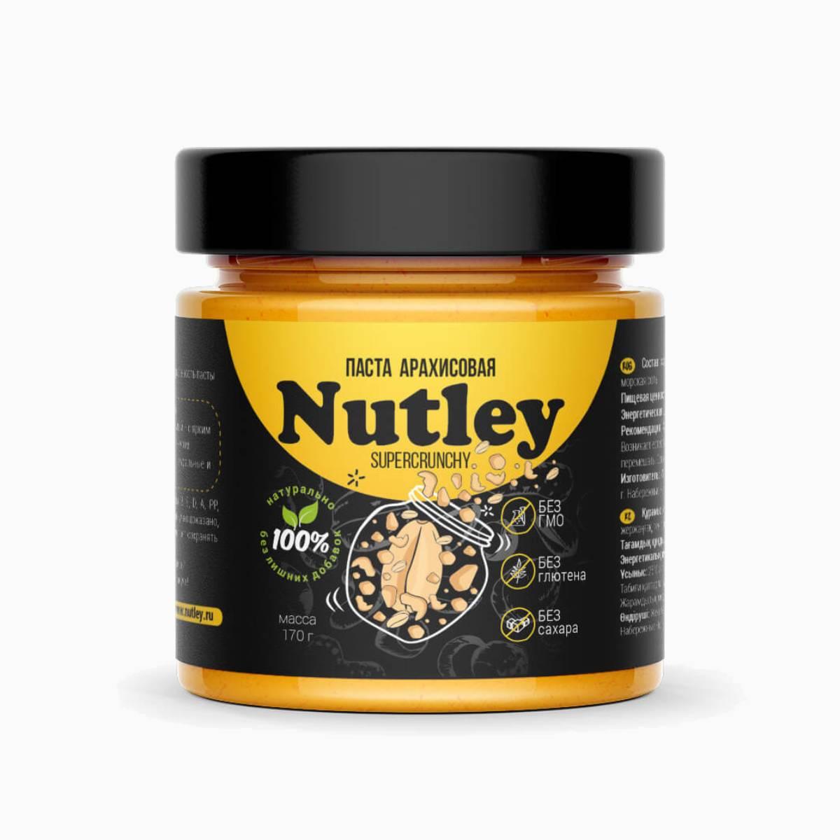 Паста Арахисовая SuperCrunchy, Nutley Black