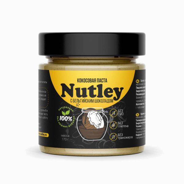 Паста Кокосовая с бельгийским шоколадом, Nutley Black